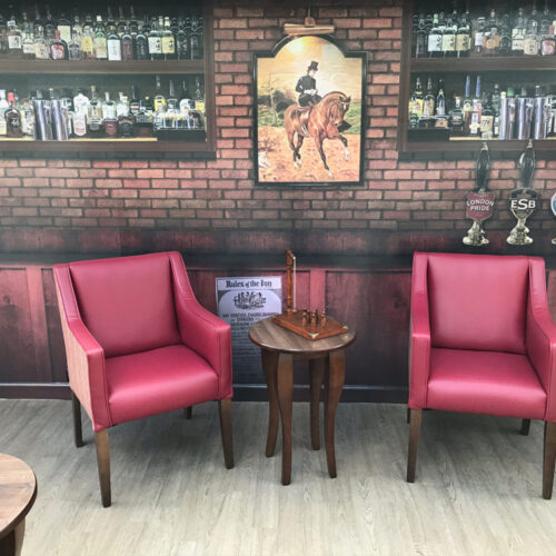 Bar liquor wall design wrap
