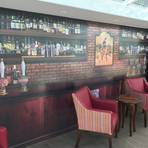 Bar wall design