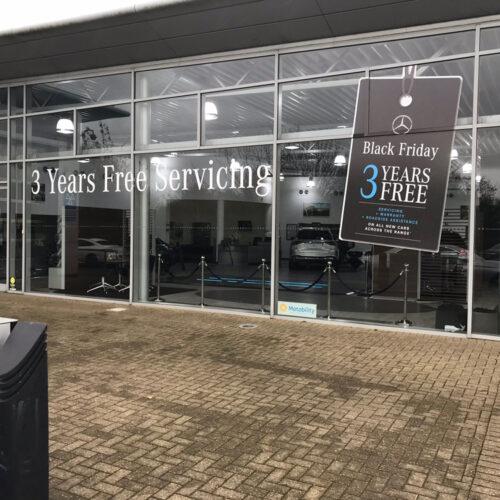 Black Friday Mercedes Benz Branding Servicing Sign
