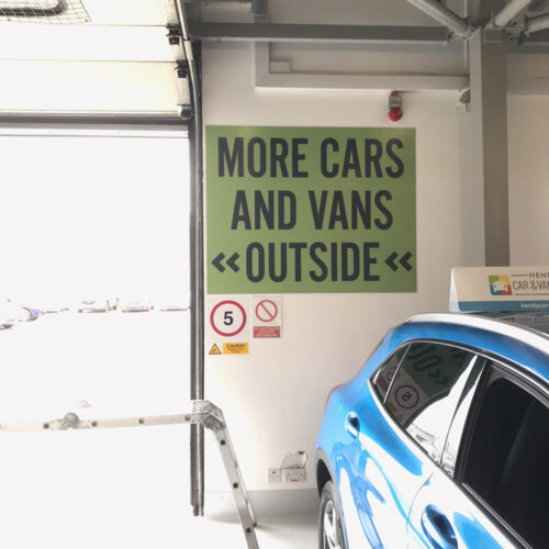 Car park wall wrap