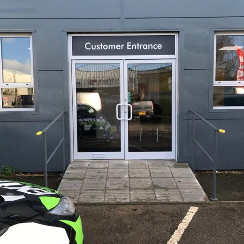 Customer Entrance Door Glass Tint