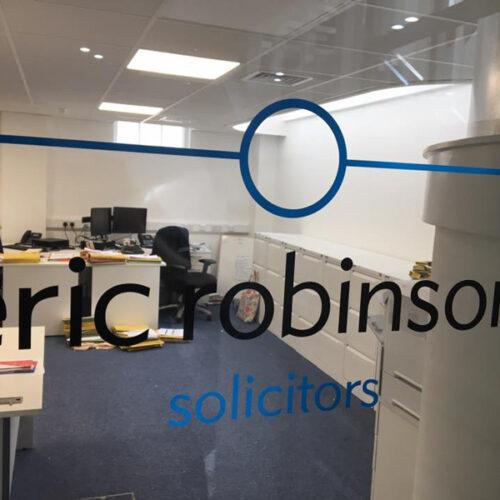 Eric Robinson Glass Branding