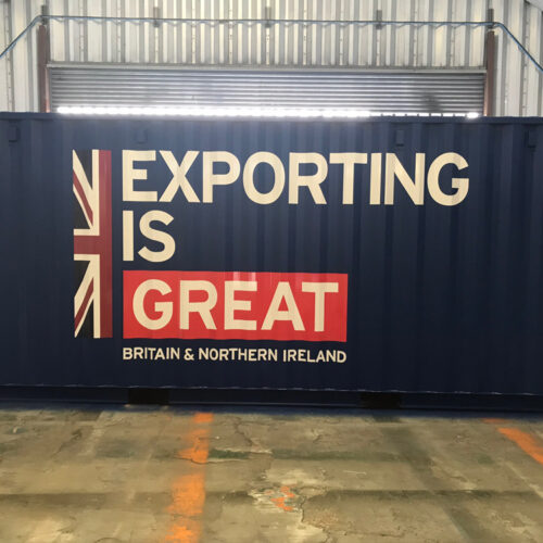 GB shipping container branding