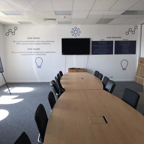 Meeting room wall wrap