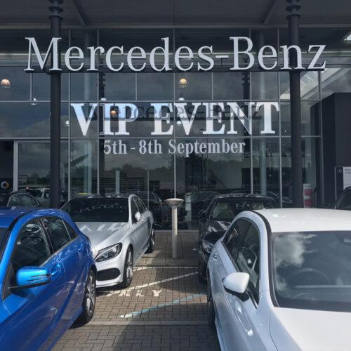 Mercedes Benz Glass Lettering