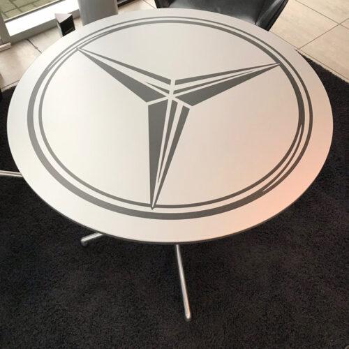 Mercedes Benz Table Top Crest Branding
