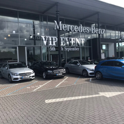 Mercedes Benz Window Lettering