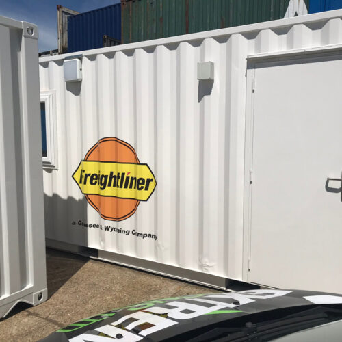 Shipping Container Office Branding