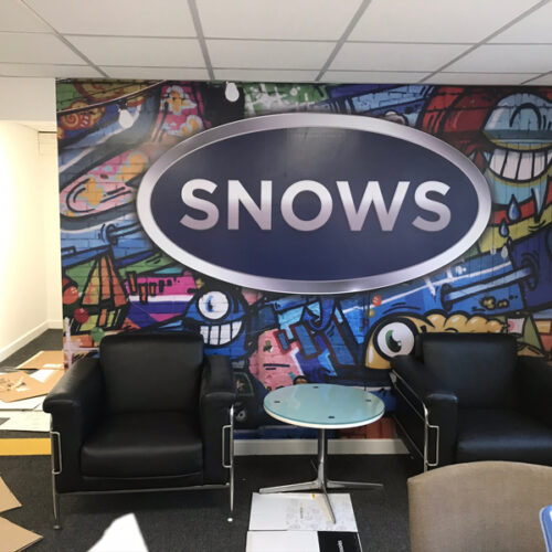 Snows wall branding