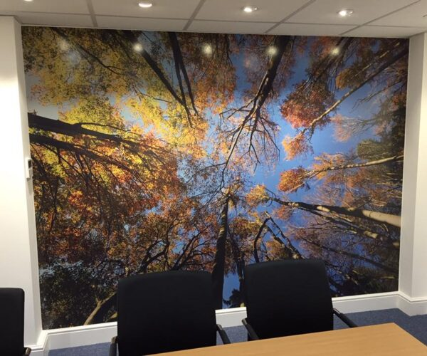 Partial wrap of an office meeting room