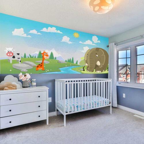 Nursery-room-wall-mural