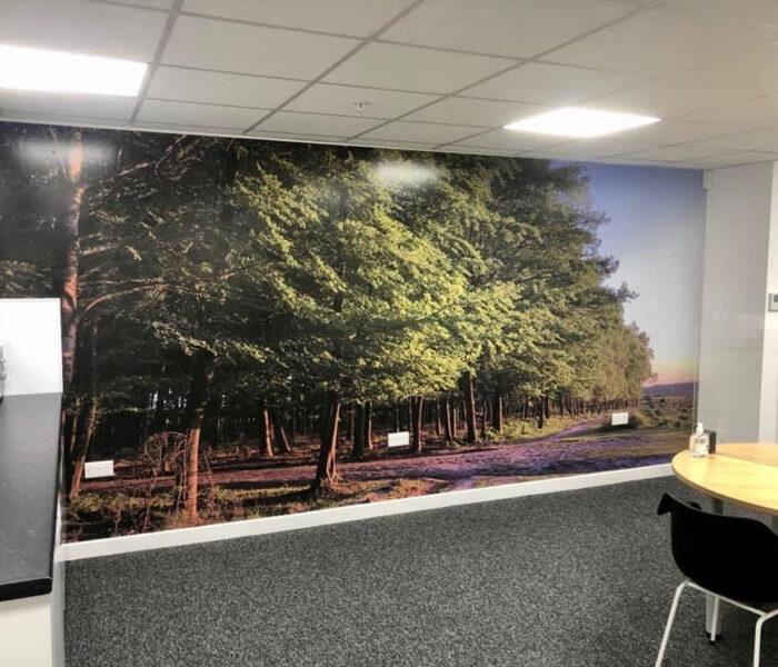 Office Break Room Wall Wrap
