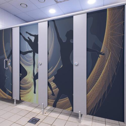 Washroom Refurbishment Vinyl Wrap in Sutton Scotney