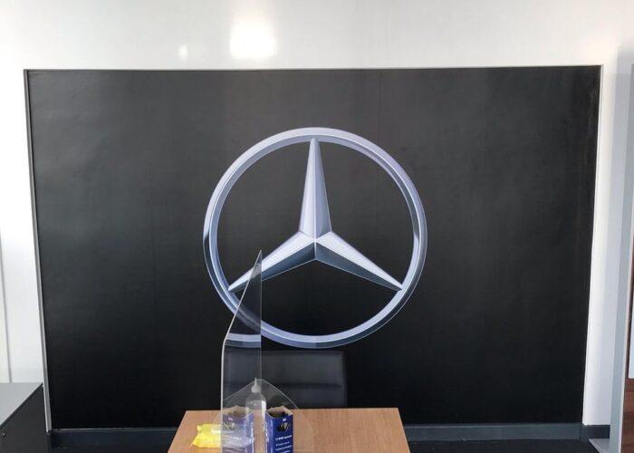 Mercedes Wall branding
