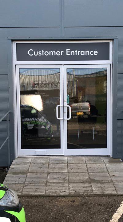 Customer-Entrance-Door-Contravision-oneway-vision-film