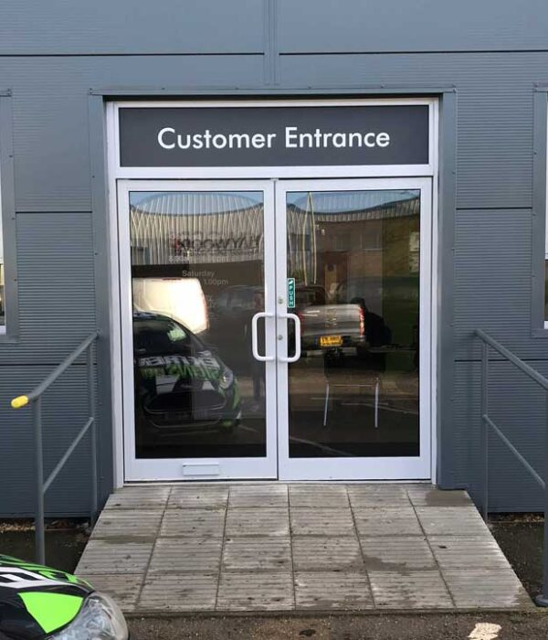 Customer Entrance Door Tinted Glass