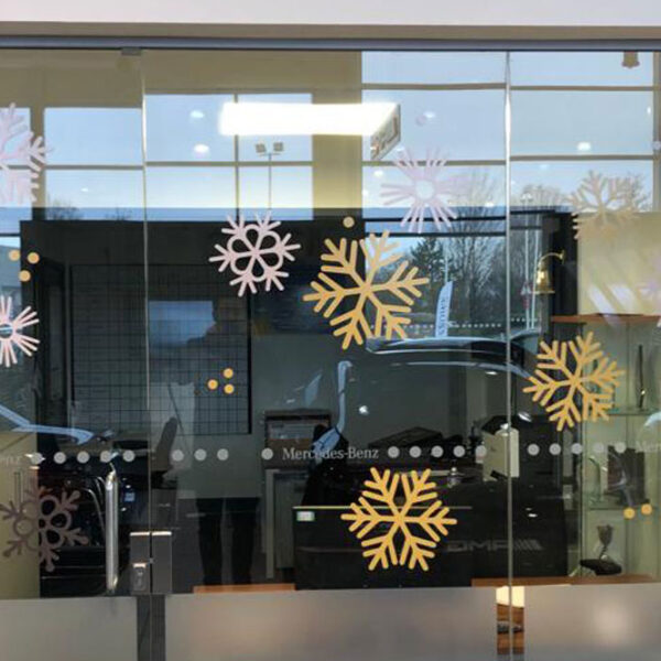 Domom Glass Manifestation Snowflake Decal