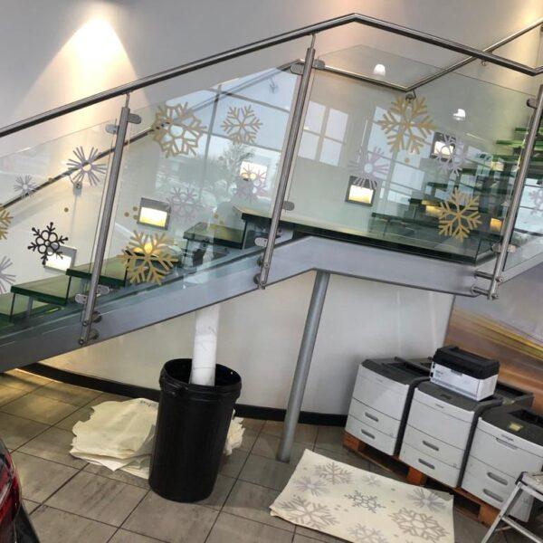 Glass Manifestation Stairway Decals