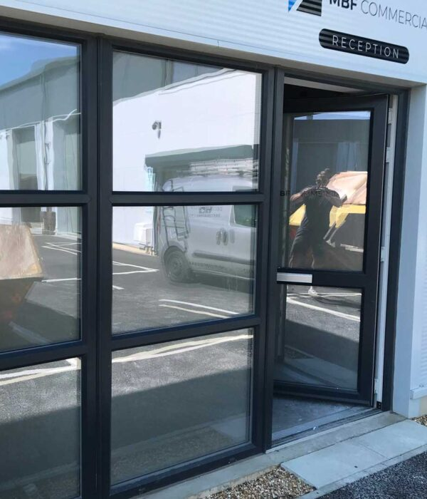 Office Entrance Glass Oneway Vision Film