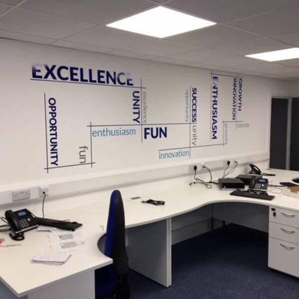 Inspirational Office Wall Text Gosport