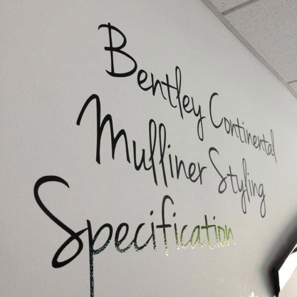 Text wall decal Chichester